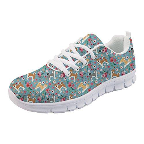 Sport Coloranimal De Akita Lgre Course Flats Femmes Sneaker Pour Flower Gymnastique xq6w0n0gAB