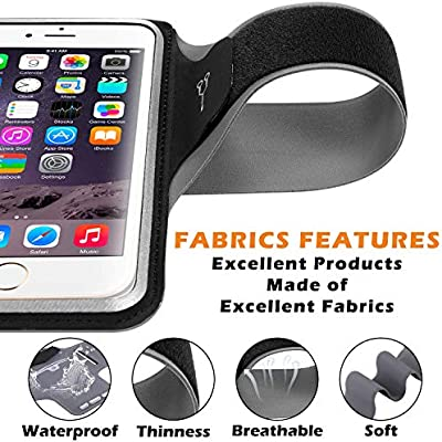 Sweat Resistance Armband Cell Phone Running Holder for iPhone X//8//7//6//6s /& Galaxy S7//S6//S5-YORJA Sports Arm Band Case for Jogging,Workout,Hiking,Gym-with Key Slot,Card /& Money Pocket Black