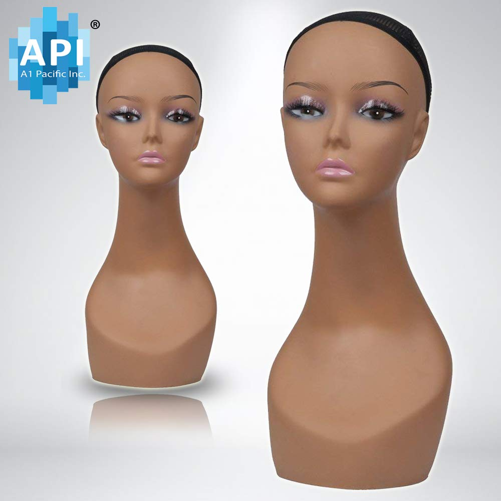 18'' Female Life Size Mannequin Head for Wigs, Hats, Sunglasses Jewelry Display PD3R-24
