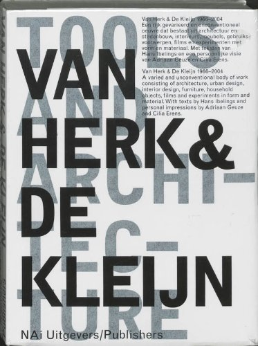 Urban Design Meubels.Van Herk And De Kleijn 1973 2002 Architecture And Design By