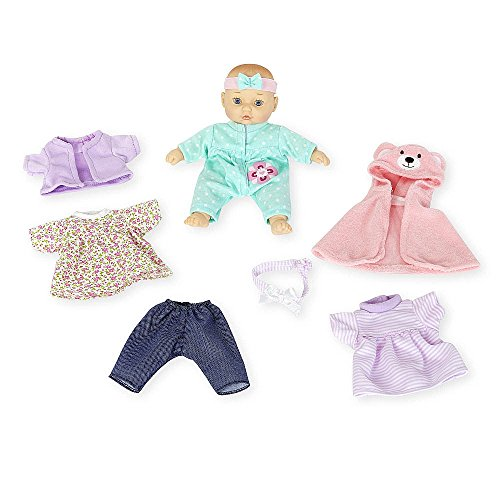 You & Me 8 inch Mini Baby Doll with Fashion Outfits Set