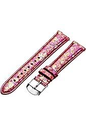 MICHELE MS16AA420675 16mm Snakeskin Pink Watch Strap