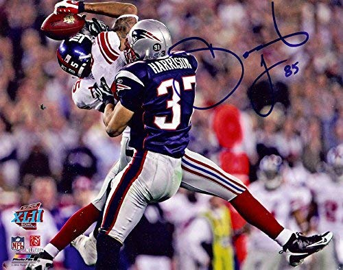 New York Giants David Tyree Makes The Helmet Catch During Super Bowl 42. 8x10 Autographed Photo ()