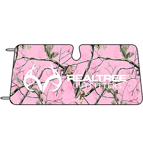 Realtree-Pink-Camo-Accordian-Style-Windshield-Shade-Realtree-APC-Pink-Camo-Single-ply-bubble-pad-between-reflective-foil-59X27-Sold-Individually
