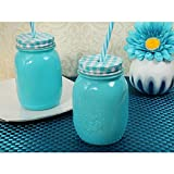 Rustic Country comfort blue Mason jar favor - 72 pieces
