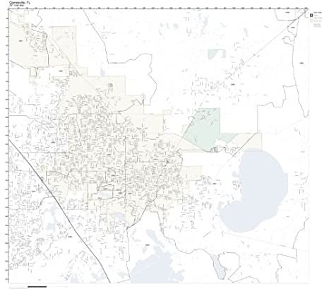 Amazon Com Zip Code Wall Map Of Gainesville Fl Zip Code Map Not