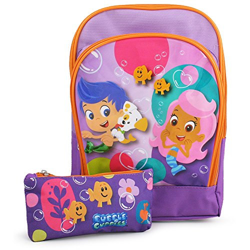 Bubble Guppies Toddler Backpack with Pencil Case (Blue Ninja Turtle Name)