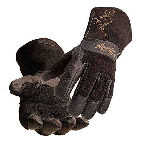 (Black Stallion BSX LS50 Woman's AngelFire Premium Pigskin Welding Gloves - Medium)