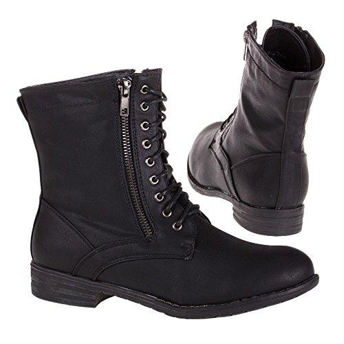 Ital-Design - Botas Antideslizantes de material sintético mujer negro - Schwarz 3VAX-2284-