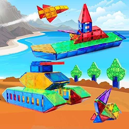 Magblock 115 PCS Magnetic Blocks, Magnetic Tiles Building Blocks for Kids Toy,Magnet Toys Set 3D Building Blocks for Toddler Boys and Girls by Magblock (Image #8)