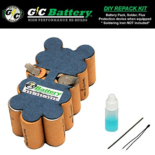 G/C Battery Co. Compatible 2.2Ah NiCd DIY REPACK KIT (contact not included) for Snap-on 18V CTB4185 | CTB4187 Battery