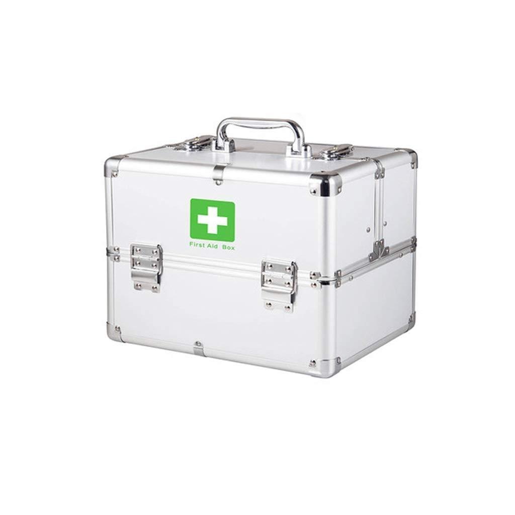 HEMFV Boîte de Rangement verrouillable de médecine de Serrure de sécurité de boîte de Premiers Soins de Trousse de Premiers Soins avec la poignée portative pour la Voiture, à la Maison, Le Voyage, Le  -