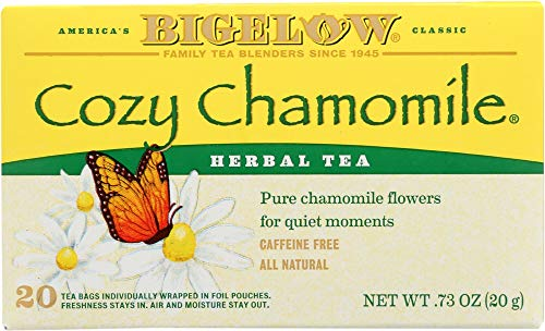 (NOT A CASE) Herbal Tea Caffeine Free Cozy Chamomile, 20 Tea Bags