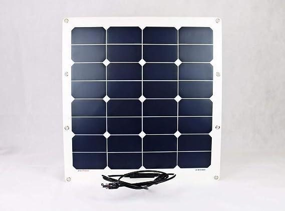 Solarpanel Solarzelle 50W schwarz Solarmodul flexibel 50 Watt 12V Sunline Black