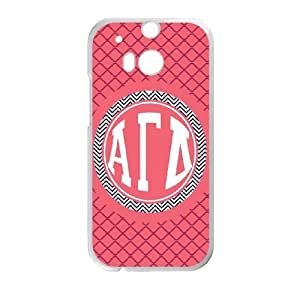 Alpha Gamma Delta Squeeze HTC One M8 Cell Phone Case White phone component RT_237411