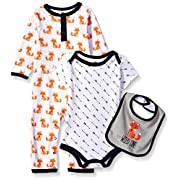 Hudson Baby Baby Multi Piece Clothing Set, Fox 3 Piece, 6-9 Months