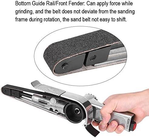 Air Belt Sander, Pneumatic Air Belt Sander 15000RPM 20mm Air Belt Sander Tool Belt Sander Polisher, for Wood-working, Furniture-polishing