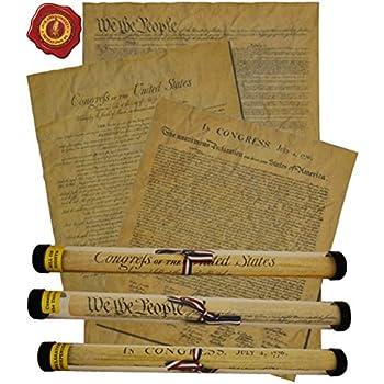 Comparison united states constitution and declaration inde