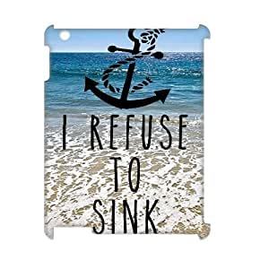 Personalized New Print Case for Ipad 2,3,4 3D, I Refuse to Sink Phone Case - HL-R659196