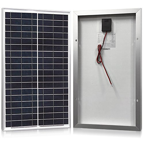Kit 10w Solar (Solar Panel 30 Watt, Powereco 30W Polycrystalline Solar Charger for 12V Battery Charging)