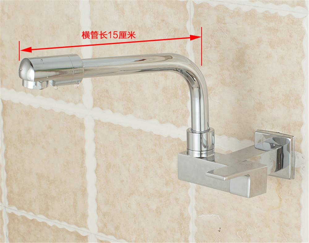 NANA318 StainlessBathroom Sink Taps Steel Kitchen Sink Taps Mixers 1017º Swivel SpoutSingle Lever