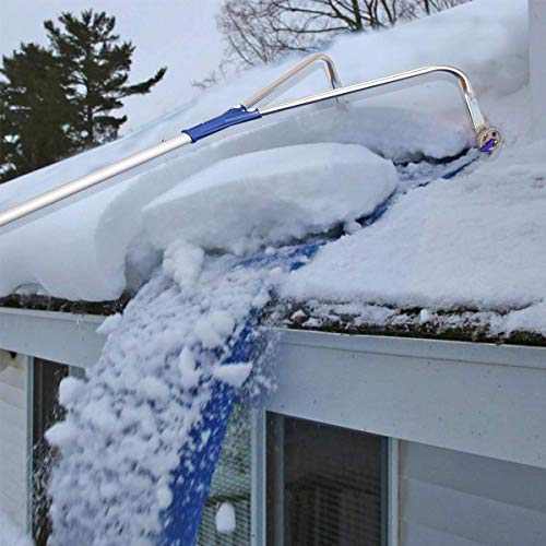 Read About QWE Roof Snow Rake Removal Tool 20 Ft with Adjustable Telescoping Handle Rooftop Snow Rak...
