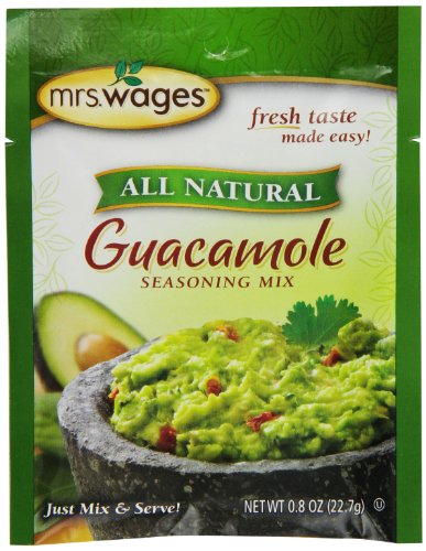(Mrs. Wages Guacamole Seasoning Mix, .8-Ounce Pouches (Pack of 12, Packaging may)