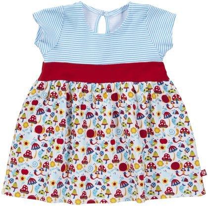 Zutano Baby Girls' Happy Day Banded Waist Dress, Cream, 12 Months