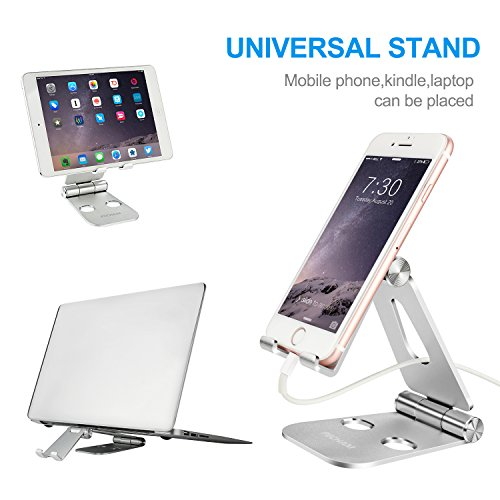 PECHAM Multi-Angle Stand for Cell Phone, Desk Stand Mount for Nintendo Switch, Iphone X 8 7 6 6s Plus 5 5s 5c, SamSung, Galaxy, Android Smartphones, Tablets, Universal Phone Holder- Silver by PECHAM (Image #6)
