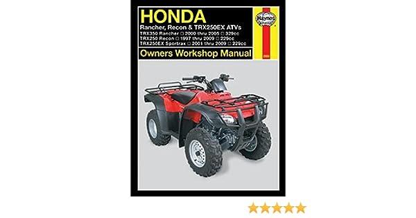 honda recon trx 250 1997 2004 factory service repair manual download