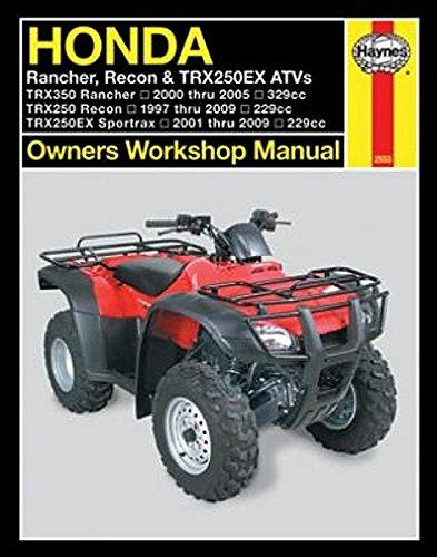 amazon com 1997 2009 honda rancher recon sportrax trx 250 350 quad rh amazon com 2004 honda sportrax 250ex service manual Honda ATV Tires