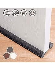 Under Door Draft Stopper 37 Inches Cuttable and Washable,Twin Door Draft Stopper,Energy Saving Door Weather Stripping Reduce Noise Window Breeze Blocker Adjustable Door Sweeps