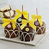 Mrs Prindables Spring Flower Petite Caramel Apple 4-Pack