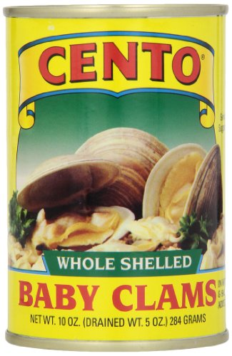 Cento Whole Baby Clams, 10-Ounce Cans (Pack of 12) (Baby Clams)