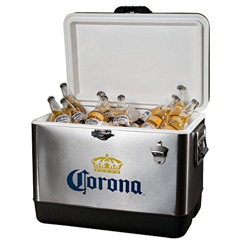 Chest Ice Corona - Corona Cooler, Stainless Steel, 54-Quart