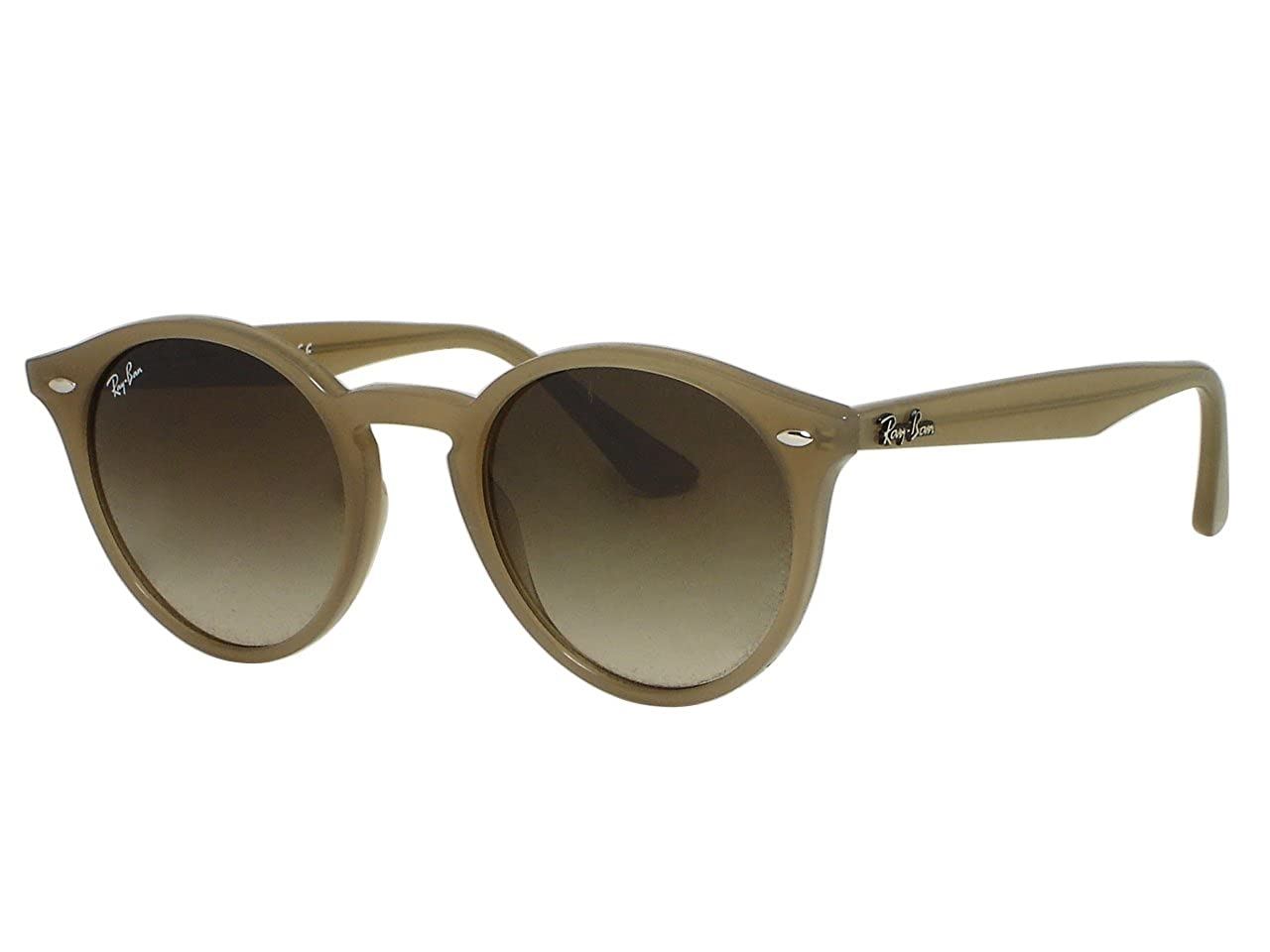 c74d703559a Amazon.com  Ray Ban RB2180 Round 6166 13 Turtledove Sunglasses 49mm   Clothing