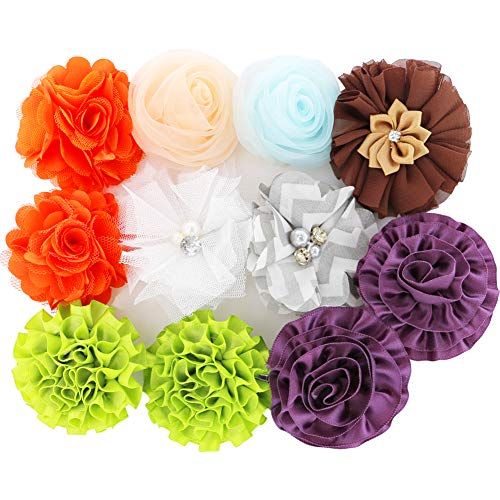 Grosgrain Ribbon Hair Bows Boutique Flowers Clips For Girls Teens Kids Toddlers Set Of 40 by Myamy (Image #2)