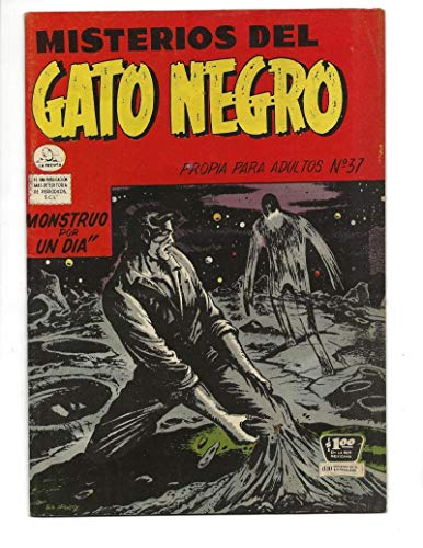 Moonscape Collection - Misterios Del Gato Negro #37 1956 Spanish Black Cat Ghostly Moonscape Cover