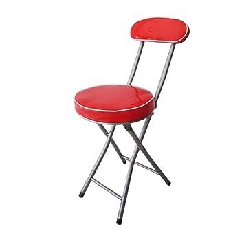 Amazon.com: YXYH - Taburete redondo plegable con asiento ...