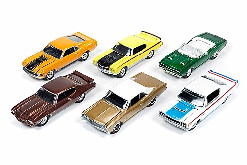 1967 Chevelle Convertible - Round 2 Johnny Lightning - Muscle Cars USA Release 1 Set A - set of six 1/64 scale diecast cars