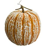 12.5''Hx11''W Artificial Beaded Pumpkin -Orange (pack of 2)