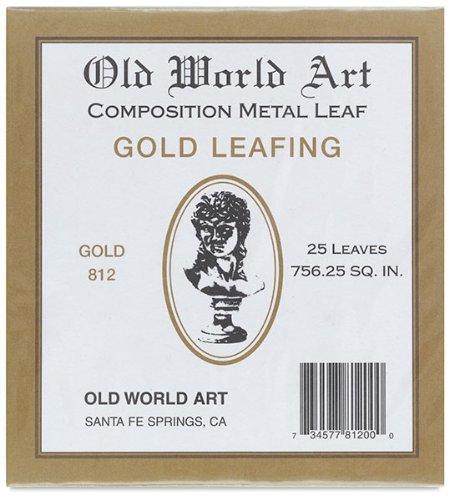 GOLD LEAF 25SHEET/BOOK
