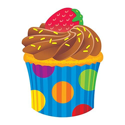 Trend Enterprises Cupcake The Bake Shop Classic Accents Classroom Decoration (36 Piece), Multicolor -