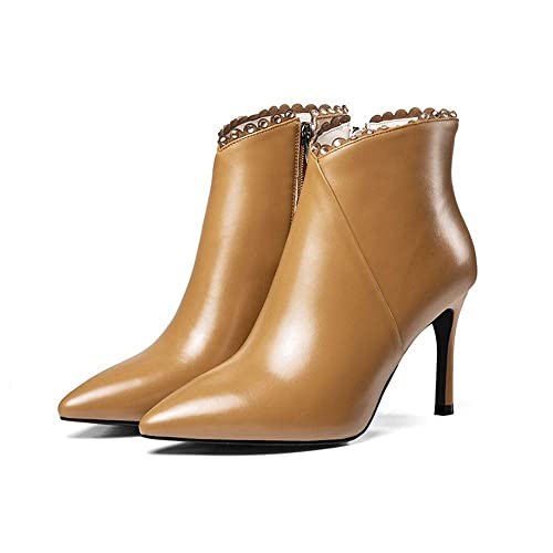 Shirloy Glamour Botas Sexy para niños Botines Cuero para Mujer en Punta tacón Alto Botas Cuero cómodos Zapatos Mujer: Amazon.es: Zapatos y complementos