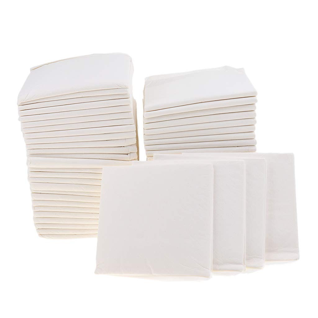 MagiDeal 50Pcs Pack Pet Training Puppy Pads Pee Pads for Dogs Super Absorbent & Leak-Free (White)