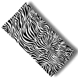 "Custom & Luxurious {30"" x 60"" Inch} 1 Single Large & Thin Soft Summer Beach & Bath Towel Made of Quick-Dry Cotton w/ Sexy Cute Girly Detailed Zebra Animal Pattern Print Wild Style [Black & White]"