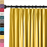 ChadMade Pinch Pleat 42W x 84L Room Darkening Velvet Curtain Drapery Panel For Traverse Rod or Track, Living room Bedroom Meetingroom Club Theater Patio Door (1 Panel)