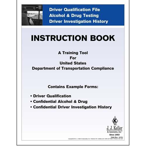 Driver Qualification File Instruction Booklet (Qty: 1 Units)
