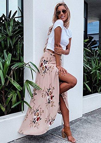 Cocktail Mousseline Jupon Robe En Plissé Ete Rétro Beige Vintage Sexy Taille Bienbien Femme Longue Tulle De Élégante Casual Elastique Party Plage Jupe Boheme Tour Maxi PlOTXkZwiu