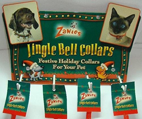 Nylon Jingle Bell Dog Collar Small Green